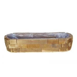 Cos oval lemn