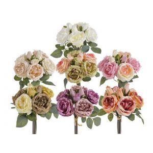 Buchet 5 trandafiri cu 3 boboci