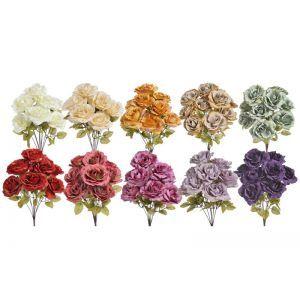 Buchet 9 trandafiri color