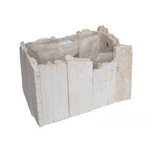 Cos lemn alb