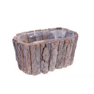 Cos oval lemn natur