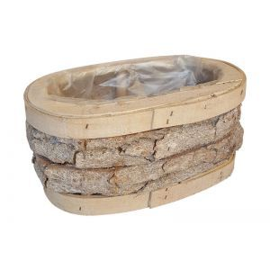 Cos oval lemn+scoarta