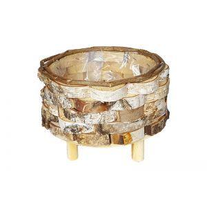 Cos rotund lemn natur