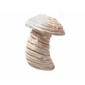 Cos tip ciuperca rattan alb 26 cm