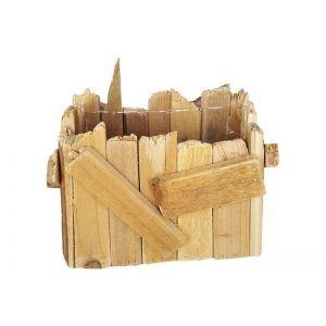 Ladita lemn natur 21 cm
