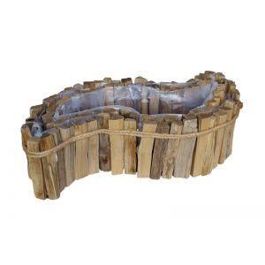 Set 2 cos lemn natur