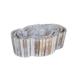 Set 3 cos oval lemn