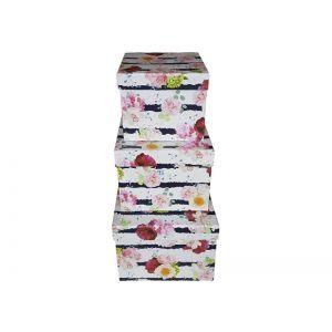 Set 3 cutii decorative patrate