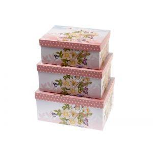Set 3 cutii model floral
