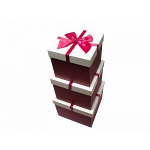 Set 3 cutii patrate