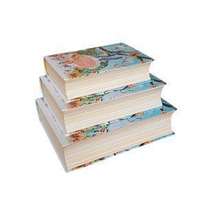Set 3 cutii tip carte model floral