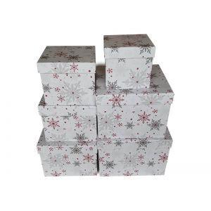 Set 6 cutii decorative patrate